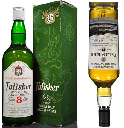 1970's Talisker 8 year old up 64%. Talisker Managers Dram down 53%.