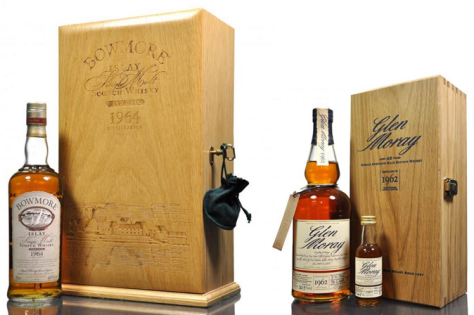 1960's vintages proving popular from both Bowmore and Glen Moray