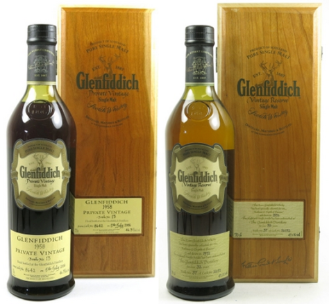 Glenfiddich 1958 and 1972