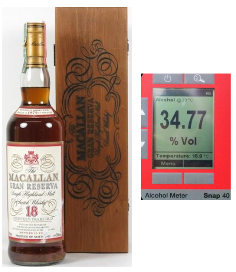Fake Macallan 1979 Gran Reserva Contents
