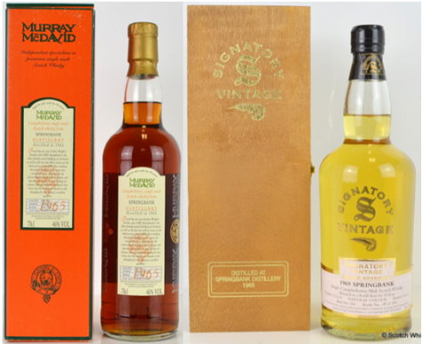 1960's vintage indie bottles of Springbank make impressive gains