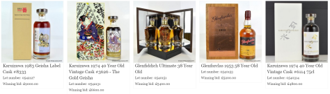 Scotch Whisky Auctions top 5 results by price