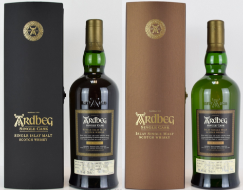 Ardbeg Single Cask Bottles