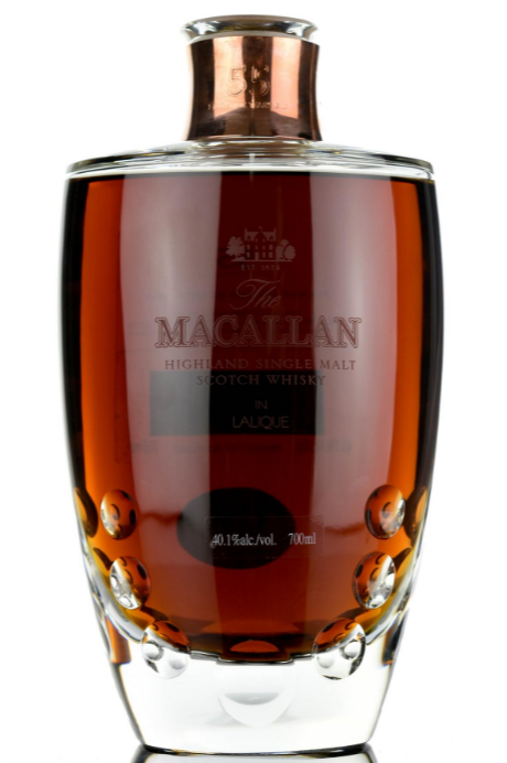 Macallan in Lalique 55